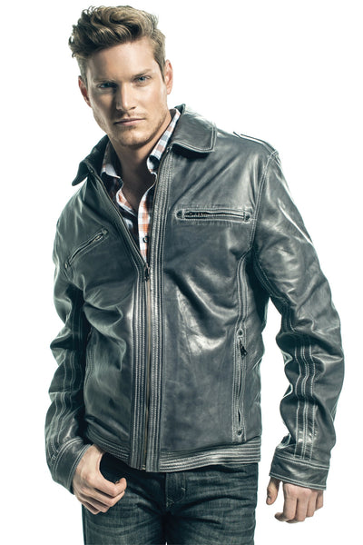 miXim Leather jacket- Vince-a for men