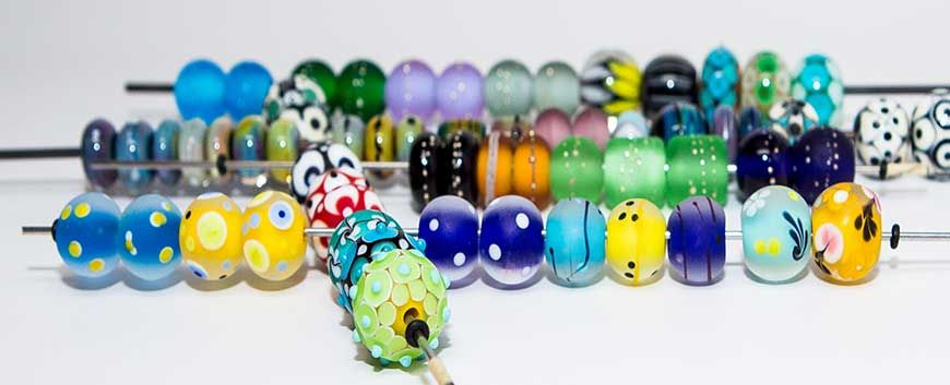 lampwork beads by Molten Glass Creations
