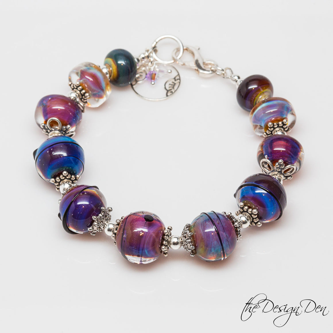 Exotic Purple Beaded Bracelet