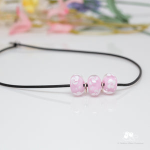 Think Pink Slider Bead Necklace
