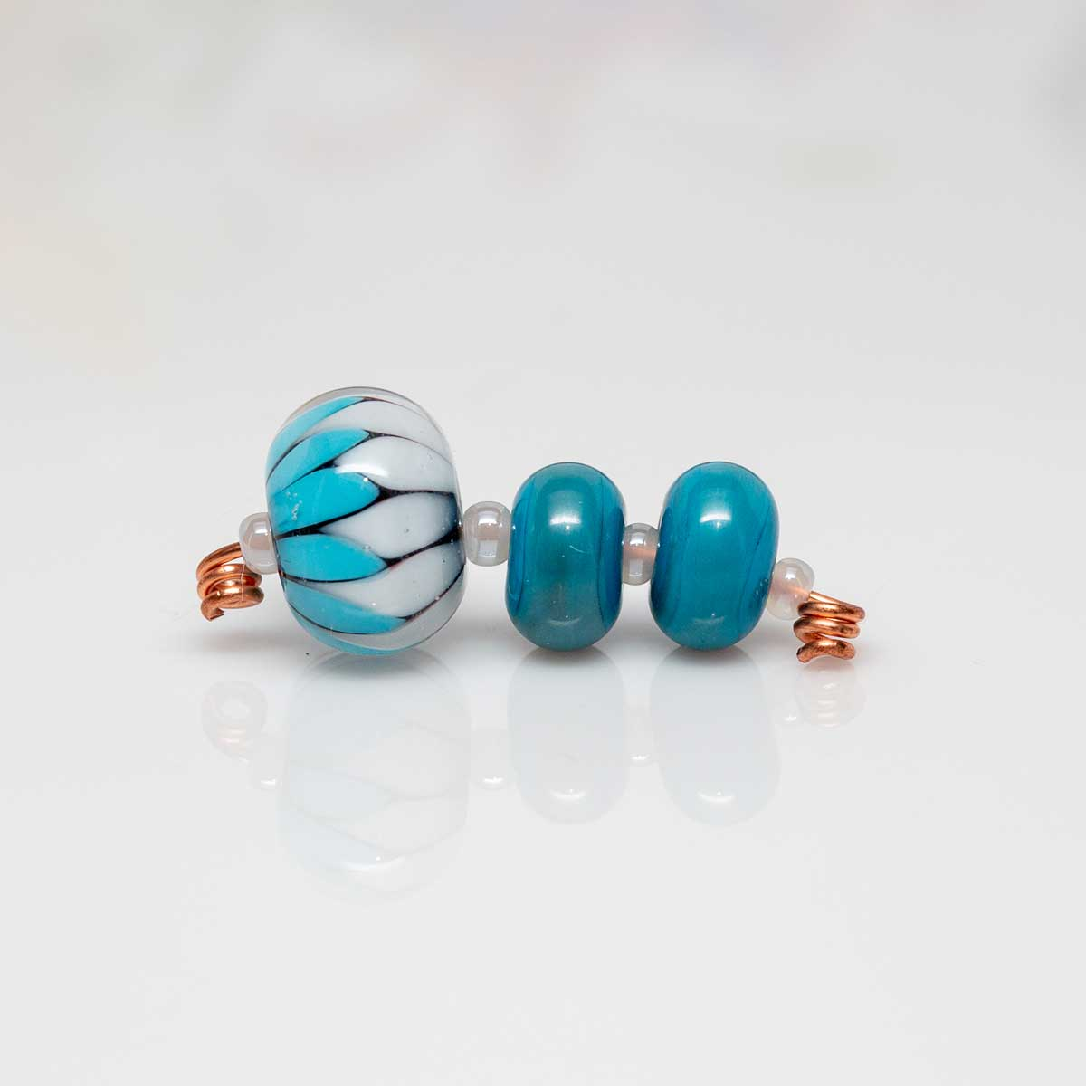 Dark Turquoise Triangle beads