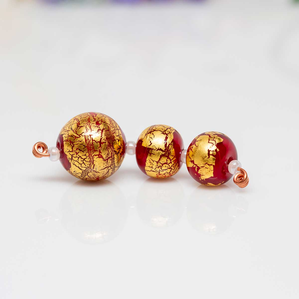 Bead Set - Red & Gold