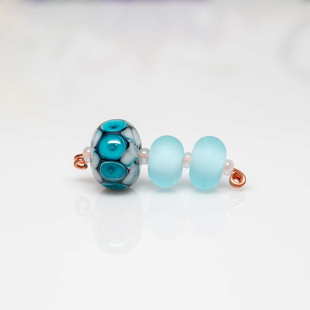 pale aqua bead set
