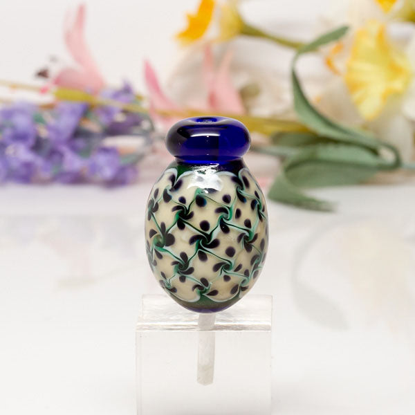 Focal Bead - Blue Vase