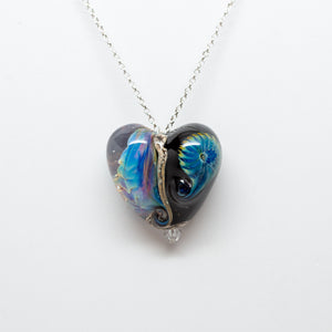 Heart Pendant - Black Reactive
