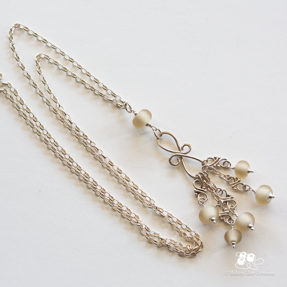 Light Brown & Silver Necklace