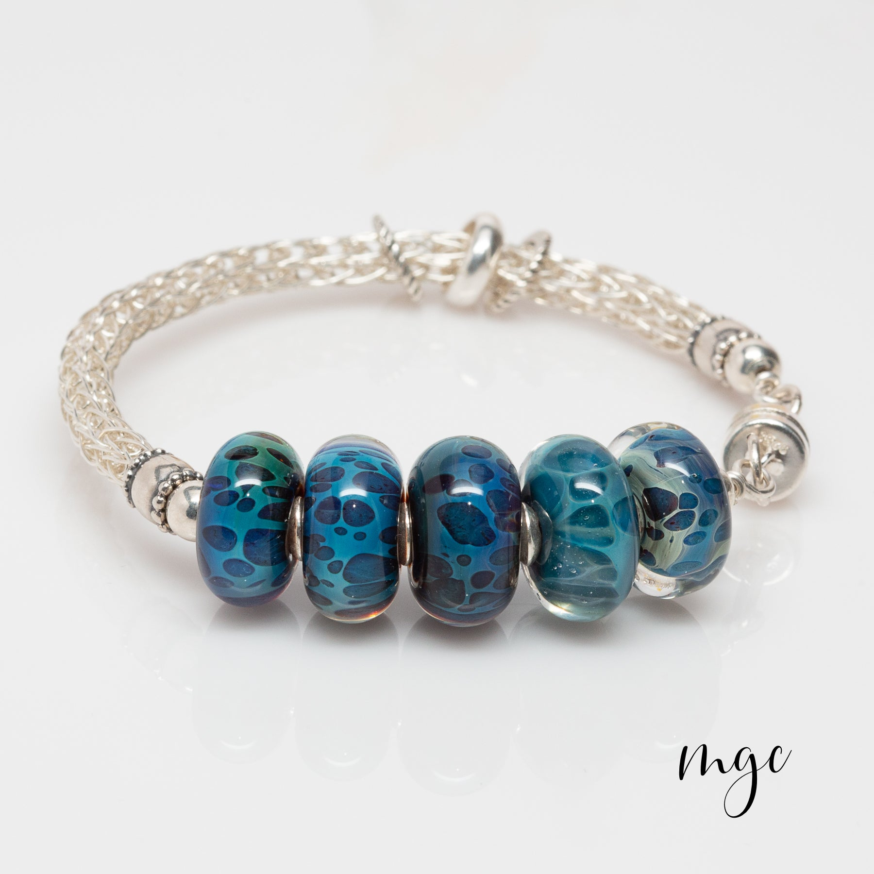 Blue Boro Viking Knit bracelet