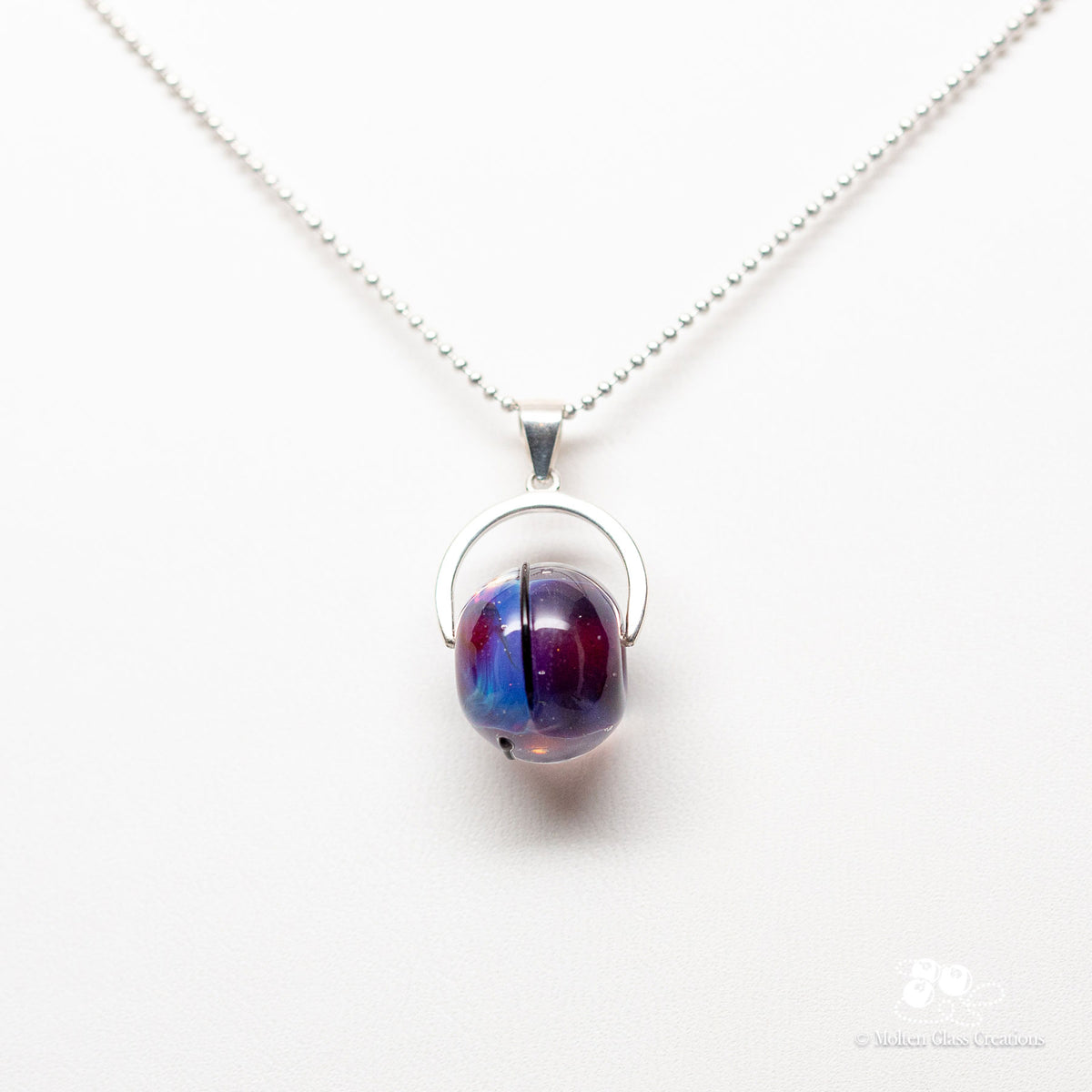 Purple Drop Necklace