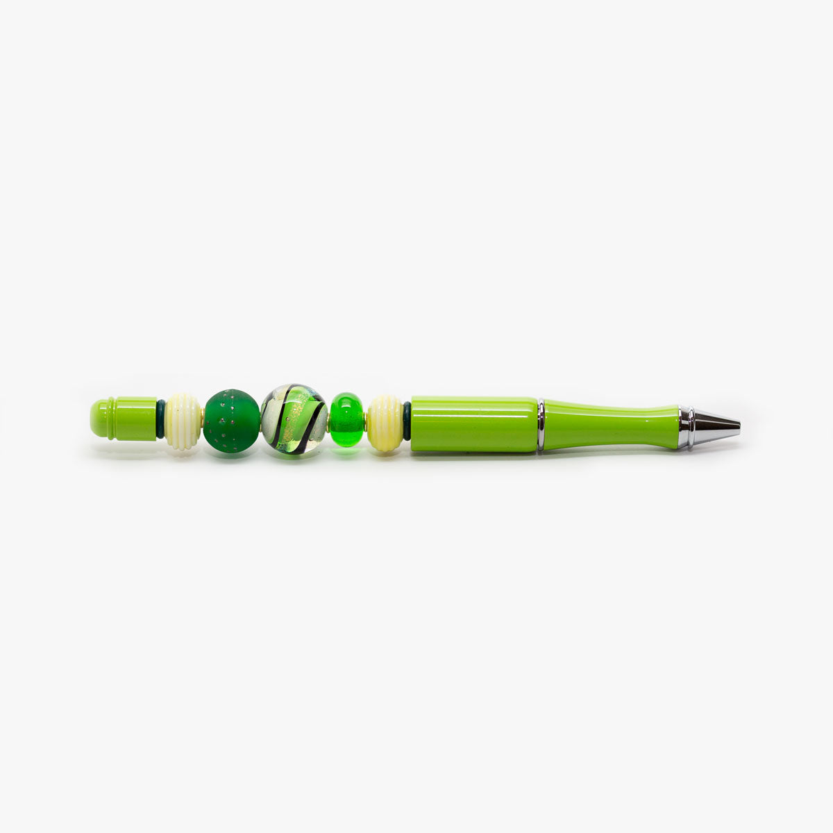 Lime Green Beaded Pen