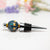 Wine Bottle Stopper - Blue/Yellow Dots