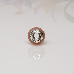 Big Hole Bead - Pink/Swirls