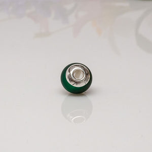 big hole bead dark green