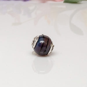 Big Hole Bead - Purple/Starburst