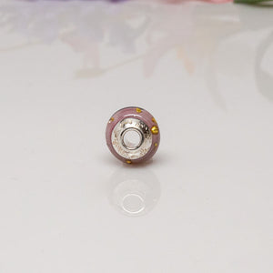 Big Hole Bead - Purple/Ornate
