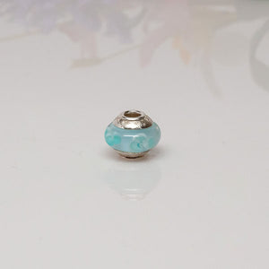 Big Hole Bead Blue Floral