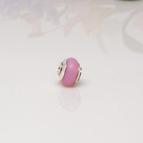 big hole bead pink