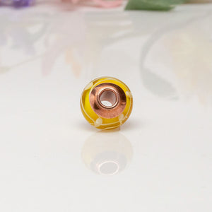 Big Hole Bead - Yellow/Copper