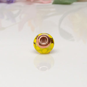 Big Hole Bead - Yellow/Copper2