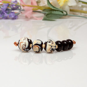 Coffee & Cream Bead Set