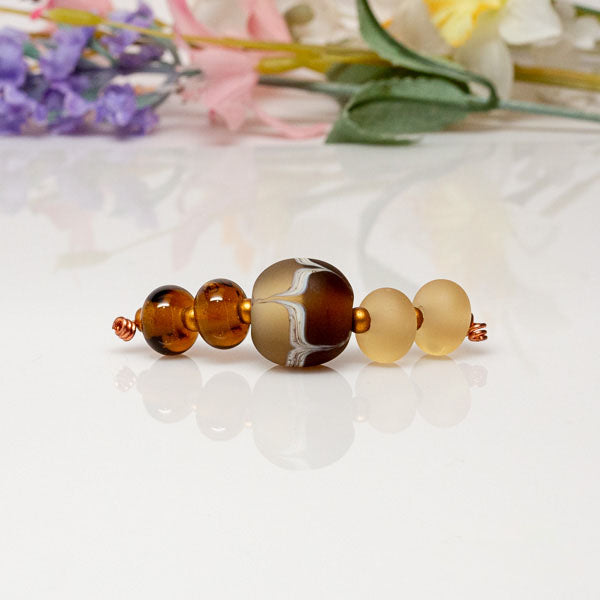 Honey Maple Bead Set