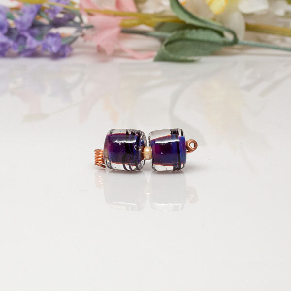 Bead Set - Purple Barrels