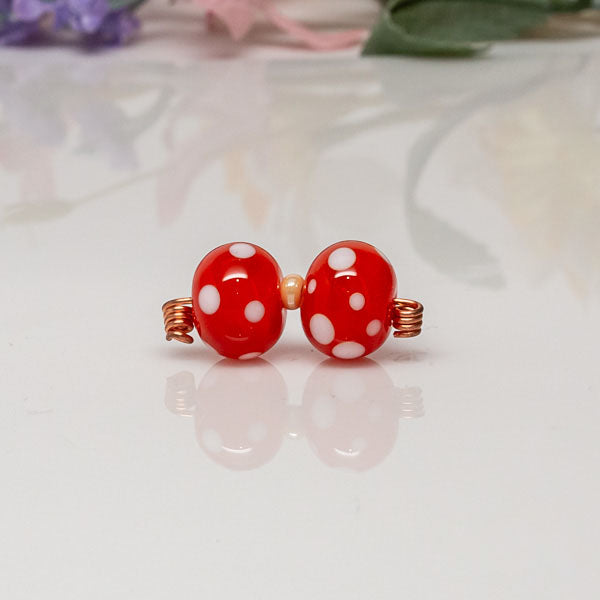 Bead Sets - Orange/Dots