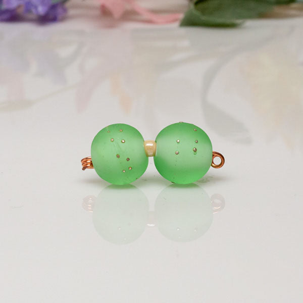 Bead Set - Lt Green/Silver