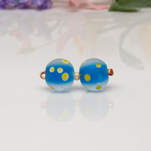 Bead Set - Lt Blue/Yellow/Dots