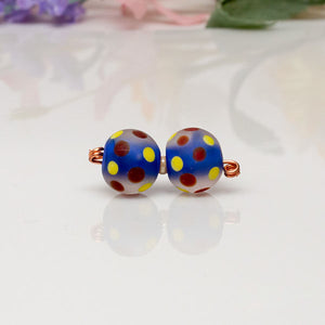 Bead Set - Blue/Red/Yellow/Dots