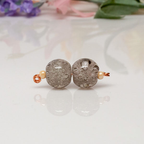 Bead Set - Gray Bubbles