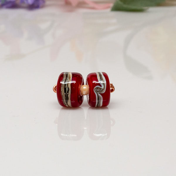 red ivory bead set