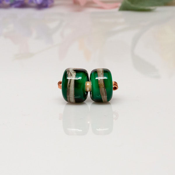 Green Ivory beads