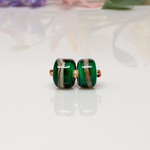 Bead Set - Green/Ivory