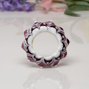 Dream Catcher Focal Bead - Purple/White