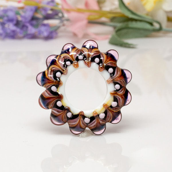 Dream Catcher Focal Bead - Purple/Amber