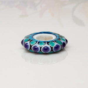 Dream Catcher Focal Bead - Purple/Teal