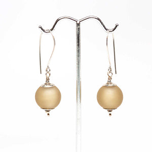 Etched Light Brown Drop Earrings