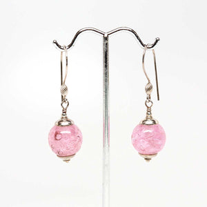 Pink Bubble Drop Earrings