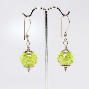 Yellow Bubble Drop Earrings