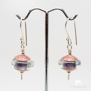 Sparkly Purple Dichroic Earrings #2