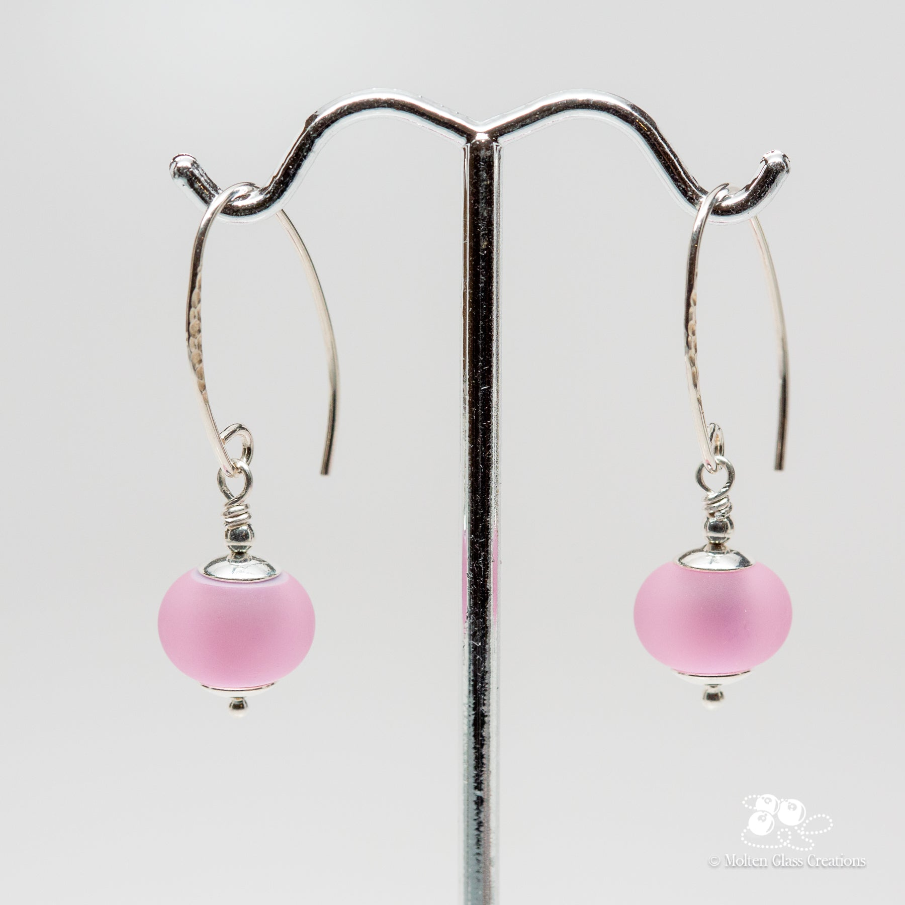 Think Pink Dainty Drop Earrings