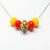 Bright Yellow Slider Bead Necklace