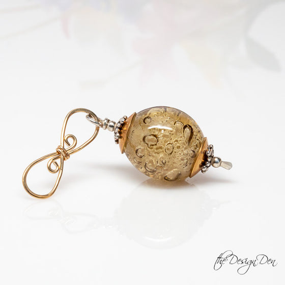 Golden Bubble Drop Pendant