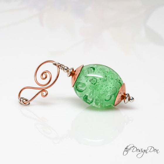 Green Bubble Drop Pendant