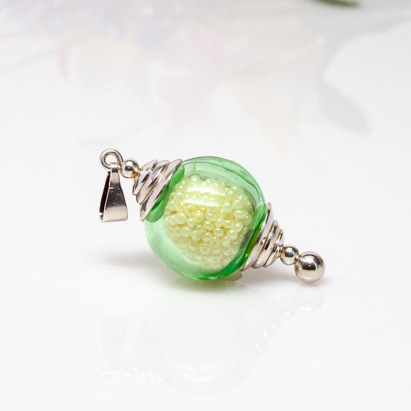 Necklace Ready Pendant - Green Hollow