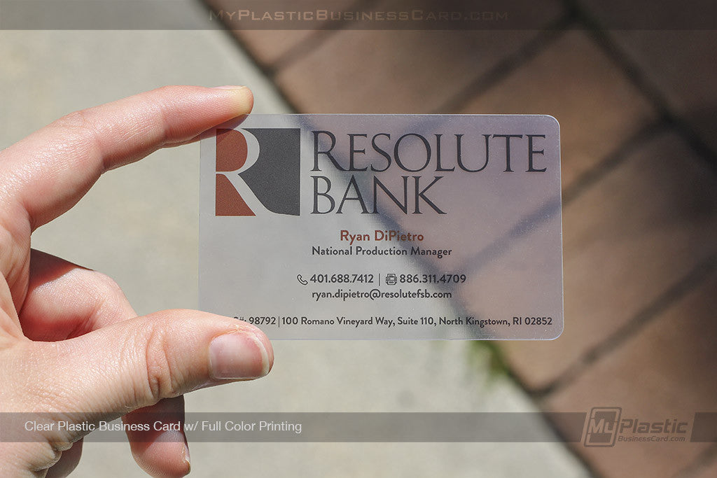 Plastic business cards now image collections card design for Clear plastic business cards vistaprint