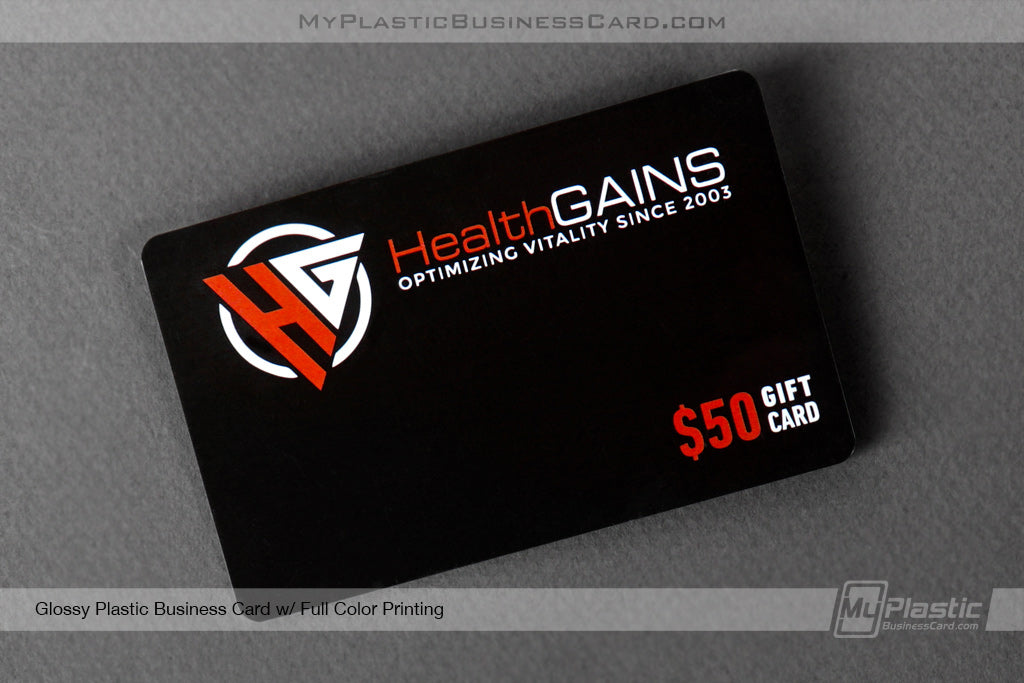 Glossy Plastic Business Cards