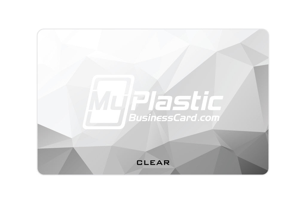 Clear Plastic Business Cards | My Plastic Business Card
