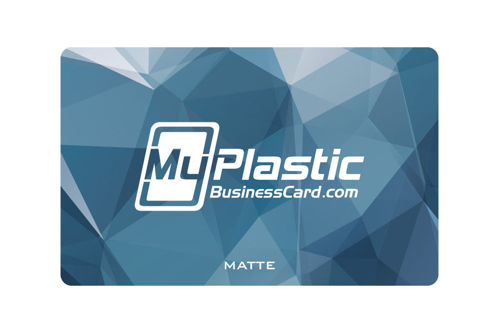 Matte Plastic Business Cards | My Plastic Business Card