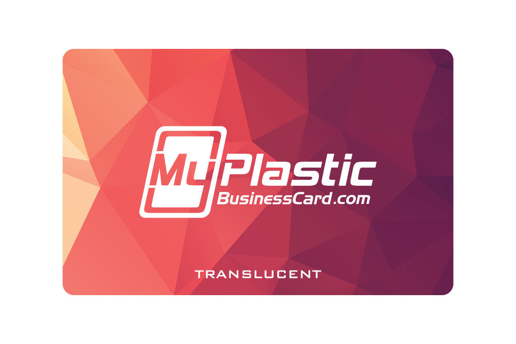 Translucent Plastic Business Cards | My Plastic Business Card